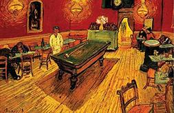 Buyartforless Night Cafe with Pool Table by Vincent Van Gogh
