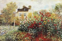 Buyartforless The Artist's Garden by Claude Monet 36x24 Art