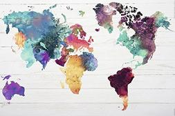 Merchandise 24/7 World map Poster The World in Watercolours