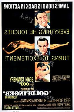 Posters USA - 007 Goldfinger James Bond Movie Poster GLOSSY