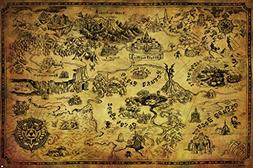 Pyramid America Legend Of Zelda Map Video Game Poster 36x24