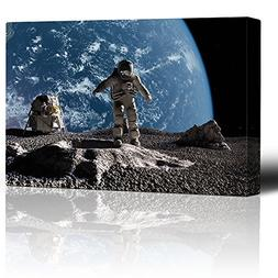 Wall26 - Astronaut Standing on the Moon Overlooking Planet E