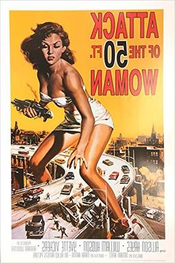 Attack of the 50 Foot Woman Vintage Movie Poster 24 x 36 inc