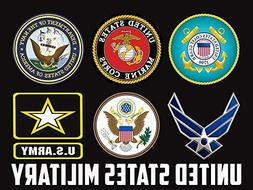 Military Branches Poster US Military Army Navy Air Force Mar