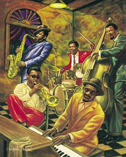 """Cool Jazz"" by Sarah Jenkins Poster Print Swing Blues Club B"