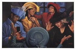 Crowns of Glory - Lift Him Up by Henry Lee Battle - 24 x 36