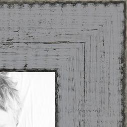 ArtToFrames 24x36 inch Distressed Gray Wood Picture Frame, W