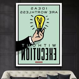 "EXECUTION Monopoly Motivation Home Wall Decor 24""x36"" LARGE"