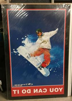 Extreme Sport Snowboarding YOU CAN DO IT Motivational Poster
