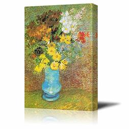 wall26 Flowers in a Blue Vase, 1887 by Vincent Van Gogh - Ca