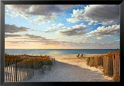 buyartforless FRAMED Sunset Beach Poster Print by Daniel Pol
