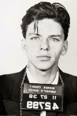 Frank Sinatra Mugshot Music Cool Wall Decor Art Print Poster
