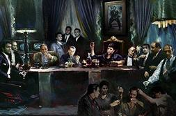 Buyartforless Gangster Last Supper by Ylli Haruni 36x24 Art