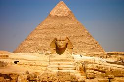 Great Sphinx/Pyramid 24x36 inch rolled wall Poster