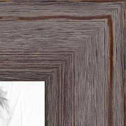 ArtToFrames 24x36 inch Grey - Distressed Wood Wood Picture F