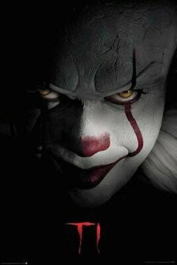 it movie poster print pennywise the clown
