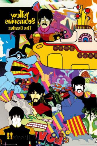 the beatles yellow submarine poster print 24x36