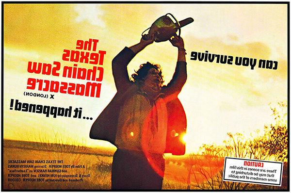 the texas chainsaw massacre 1974 movie poster