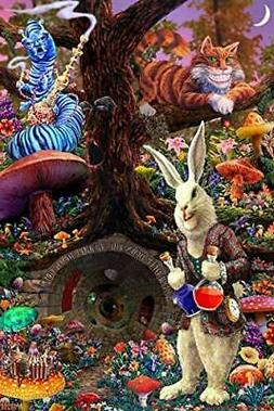 Laminated Down The Rabbit Hole - Alice in Wonderland Poster