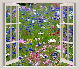 Home Comforts LAMINATED POSTER Wild Flowers Window Frame Vie