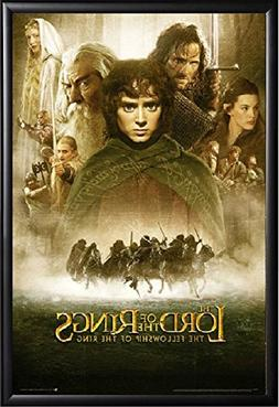 Lord of the Rings Movie Poster Framed