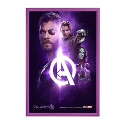 """SnapeZo Movie Poster Frame 24x36 Inches, Purple 1.2"""" Aluminu"""