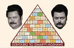 PARKS AND RECREATION PYRAMID 24X36 POSTER GREATNESS GROWTH S