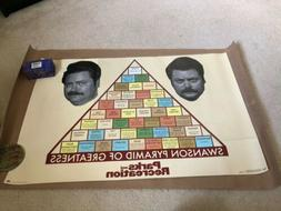 PARKS AND RECREATION RON SWANSON PYRAMID OF GREATNESS 24x36
