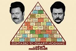 PARKS AND RECREATION - SWANSON PYRAMID OF GREATNESS POSTER 2