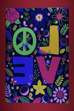 Peace Love Flowers Hugging Love Hippy Heart Movie Poster 24X