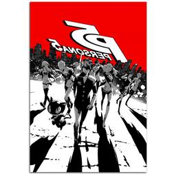 Persona 5 Poster- Steel Book Box Art - Ps4 Exclusive - High