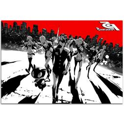 Persona 5 Poster - Steel Box Art - PS4 Exclusive - High Qual