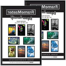 FrameMaster 24x36 Poster Frames ; Pre-Assembled with Sturdy