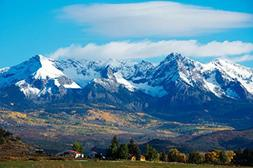 Snow Covered Rocky Mountains Rural Landscape Photo Art Print