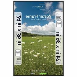 Thin 24x36 Poster Picture Frame Black Display Protect Cover