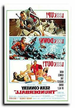 Thunderball Movie Poster 24x36 Inch Wall Art Portrait Print