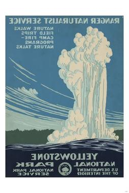 HSE YELLOWSTONE national park VINTAGE TRAVEL POSTER 36x24 gi
